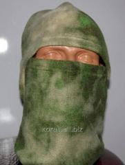 Cap mask fleece ataks green