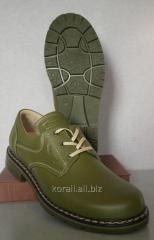 Туфли для охотников кожаные зеленые