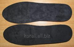 Insoles to an ortopedichesika with suede top