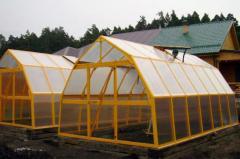 Greenhouses are garden