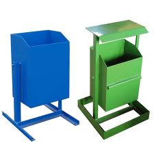 Ballot boxes for garbage street (overturned)