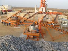 Complexes for receiving cubical crushed stone