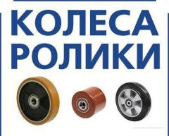 Колеса и ролики с литым полиуретановым контактным