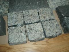 The stone blocks is chipped