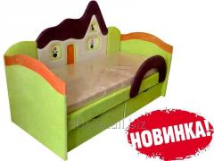 Детская кроватка Домик салатовый