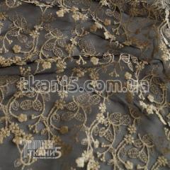 Ткань Гипюр вышика (золото )