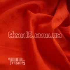 Fabric Flax natural (coral) 4778