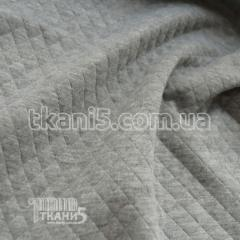 Fabric Jersey quilted (light gray melange) 5323