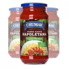 Chumak Spaghetti Napolitano sauce in a glass jar