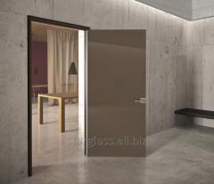 Двери распашные из стекла бронза