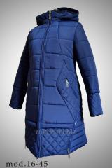 Удлиненния куртка, модель 16-45
