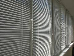 Horizontal blinds from aluminum