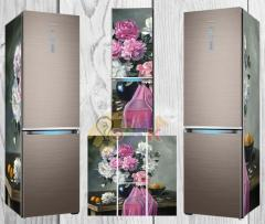 Vinyl stickers on the refrigerator design!