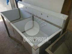 Welded sinks from stainless steel, Dnipropetrovsk