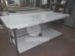 Tables production of stainless steel,