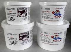 Paint heat-insulating for a facade