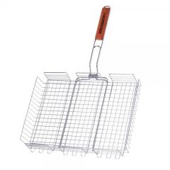 The double big chromeplated lattice basket with