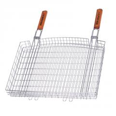 The double chromeplated lattice basket for a grill