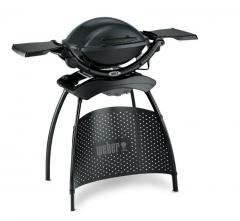 Electric q-1400 barbecue grill with the cart and 2