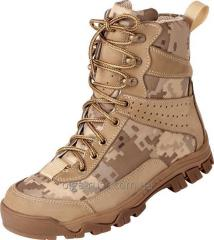 Army boots nubuck model 4349 Winter (fur, fur of the tsigal sheep)