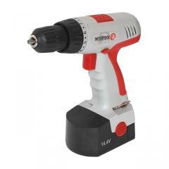 Cordless screwdriver 14.4v, 1 accumulator, 1.2