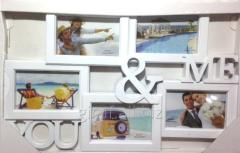 Frame a collage on 5 photos, YOU and I, 407-54,