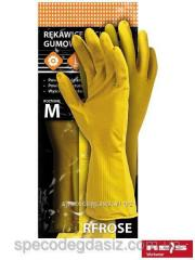 Gloves Protective Rubber Flocked Rfrose