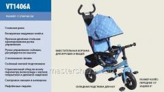 Bicycle 3-wheeled vt1406a blue inflatable wheels,