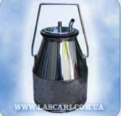 Bucket from stainless steel with a cover - 20 l