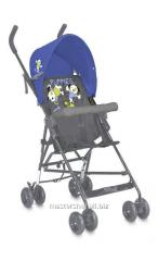 Baby carriage of light blue&grey puppies