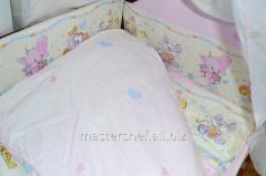 Бортик (защита) для детей, №57,3 (зверята розовые
