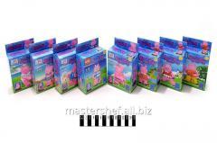 Конструктор Brick свинка пеппа , 262, 8 видов, в коробке размер: 8х4х14,5см