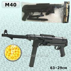 Игрушечный автомат шмайсер m40 (b35500929) с пульками, в пакете: 86х20х5,7см