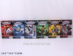 Конструктор heroes f1306-4, 6-видов, в коробке: 19х15х5 см