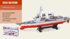 Конструктор sluban m38-b0390r, морской флот 615 деталей, в коробке: 60х33х8 см