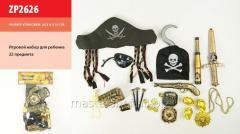 The piracy zp2626 set, hat, telescope, hook,
