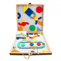 Board with magnetic figures Geometry,