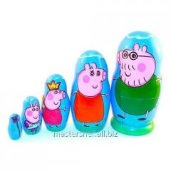 Nested doll the Pig Peppa 5 in 1, the Petrikovsky