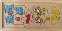 Set of puzzles Subtraction and addition, ADEX