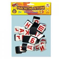 Magnetic letters Alphabet Ukrainian, soft polymer,
