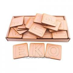 Set of letters on a magnet the Alphabet Ukrainian,