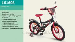 Велосипед 2-х колесный, 16'' 161603, со звонком, зеркалом, ручным тормозом
