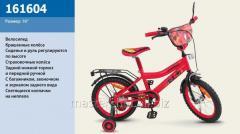 Велосипед 2-х колесный, 16'' 161604, со звонком, зеркалом, ручным тормозом