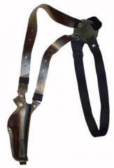 Кобура оперативная кожаная с кожаным креплением.