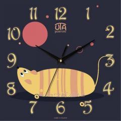 Children's wall clock Queen of mice