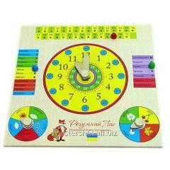 Часы-календарь Розумний Лис