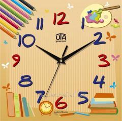 Детские настенные часы Цветные карандаши