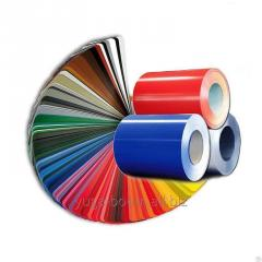 Rolled steel of color, opaque and glossy 0.45 mm