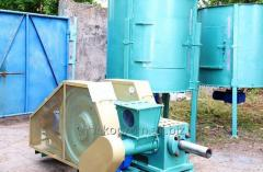 Press for production of fuel briquettes
