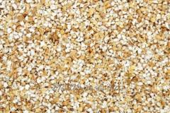 Barley grits in bags